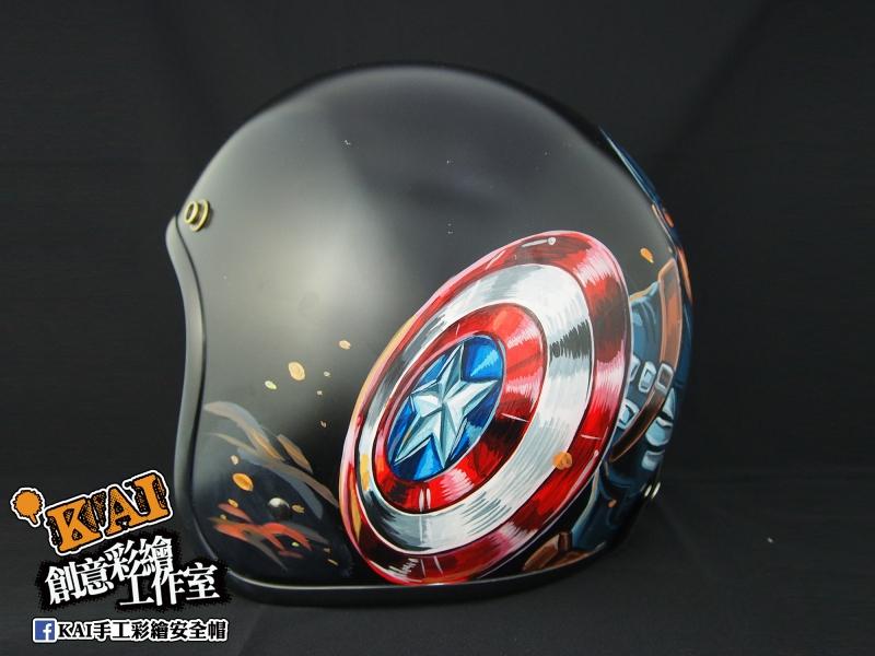 KAI 手工彩繪安全帽 美國隊長2 冬日士兵|【Ge